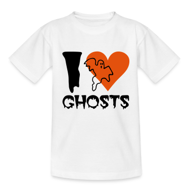 White Halloween - Ghost Kids' Shirts
