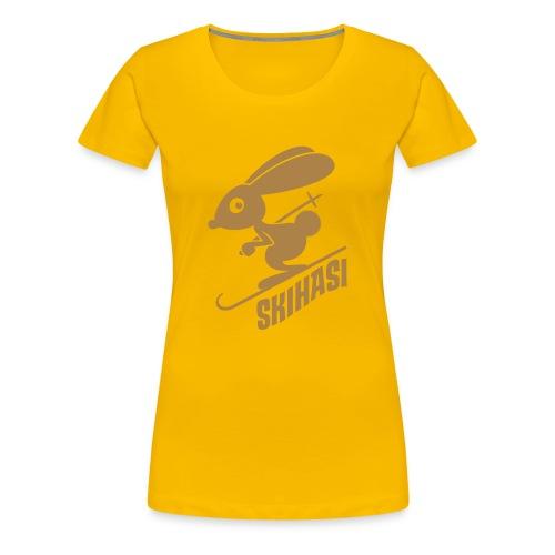 Skihase - Frauen Premium T-Shirt