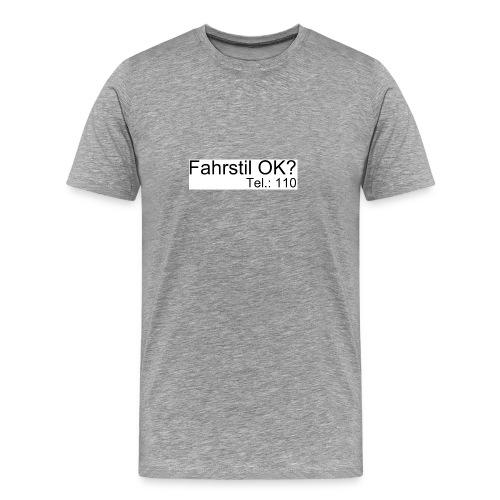Fahrstil Herren Shirt - Männer Premium T-Shirt