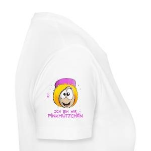 Ich bin wie Pinkmützchen - ganz diskret auf dem Ärmel - Frauen Premium T-Shirt