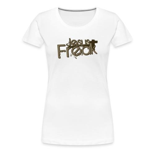 Bist du ein JESUS FREAK? GIrlie white tee - Frauen Premium T-Shirt