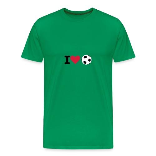 I love football - Men's Premium T-Shirt