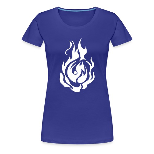 Tshirt bleu clair feu sans oa - T-shirt Premium Femme
