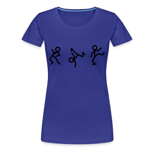 Strichmännchen Shirt blau - Frauen Premium T-Shirt