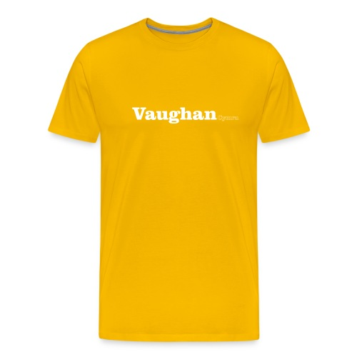 Vaughan Cymru white text - Men's Premium T-Shirt