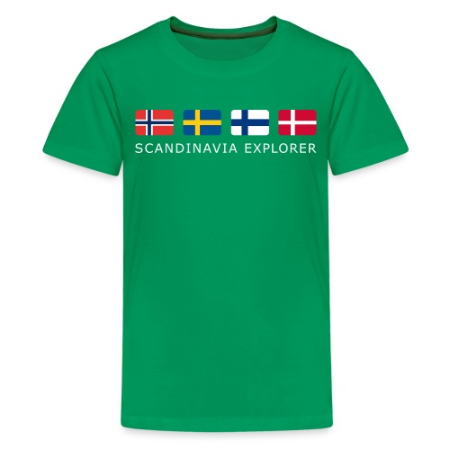 Teenager T-Shirt SCANDINAVIA EXPLORER white-lettered  - Teenage Premium T-Shirt