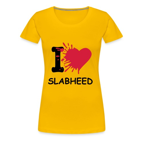 i heart slabheed - Women's Premium T-Shirt