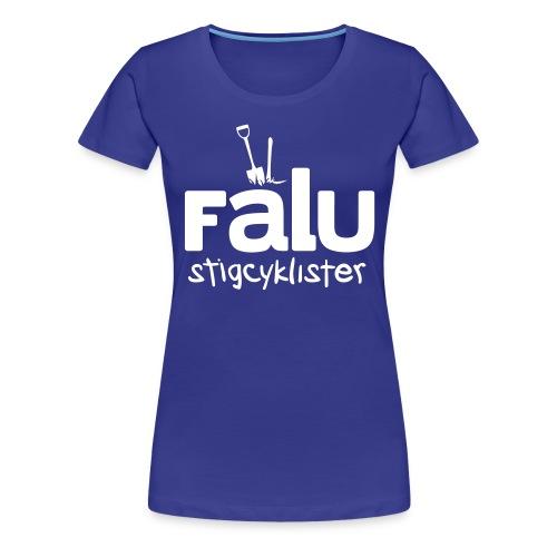 T-Shirt Dam, vitt tryck - Premium-T-shirt dam