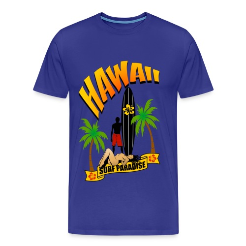 t-shirt hawaii surfing  - Men's Premium T-Shirt