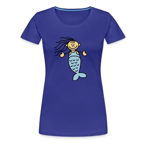 Wellen, Waser, Sufen, Segeln - Frauen Premium T-Shirt