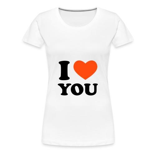 I Love You t-shirt - Dame premium T-shirt
