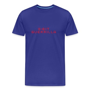8-bit Guerrilla blue - Men's Premium T-Shirt