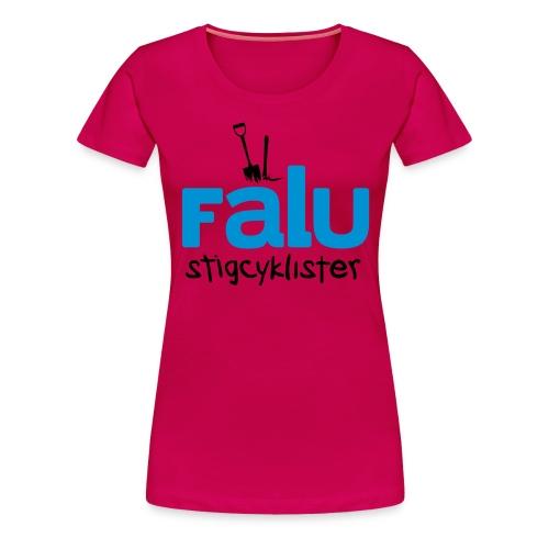 T-Shirt Dam, tvåfärgstryck - Premium-T-shirt dam