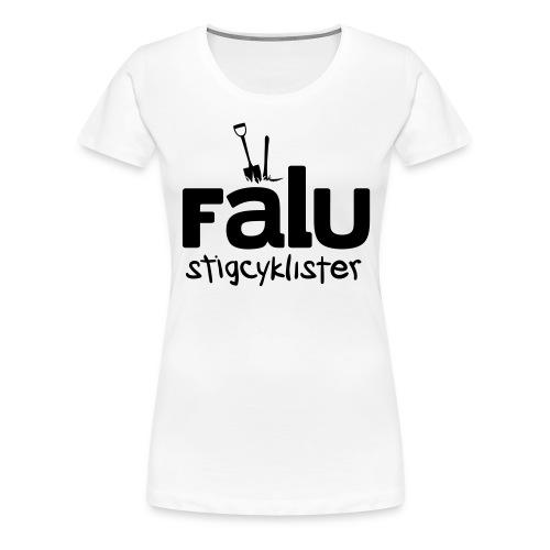 T-Shirt Dam, svart tryck - Premium-T-shirt dam