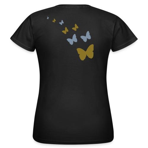 Frauen T-Shirt - (nature,) ( butterfly,)