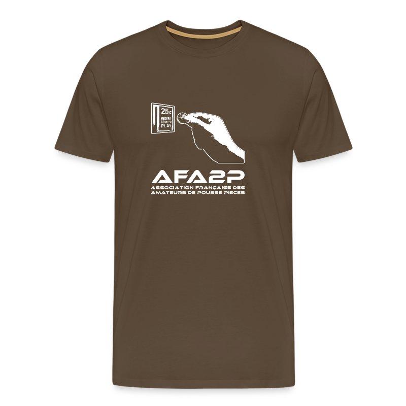L'AFA2P monochrome (White) - T-shirt Premium Homme