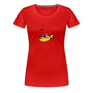 Fisch mit Sonnenbrille - Frauen Premium T-Shirt