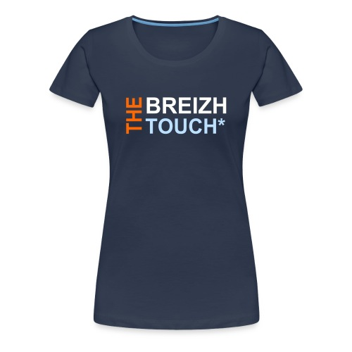 BREHAT FEMME - A - THE BREIZH TOUCH* MARINE - T-shirt Premium Femme