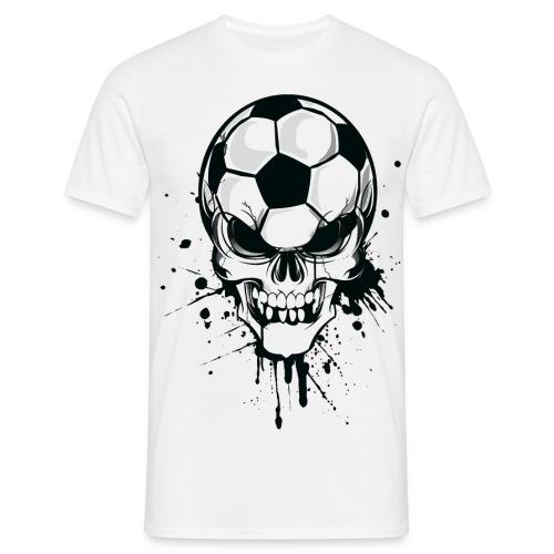 calavera futbol - Camiseta hombre