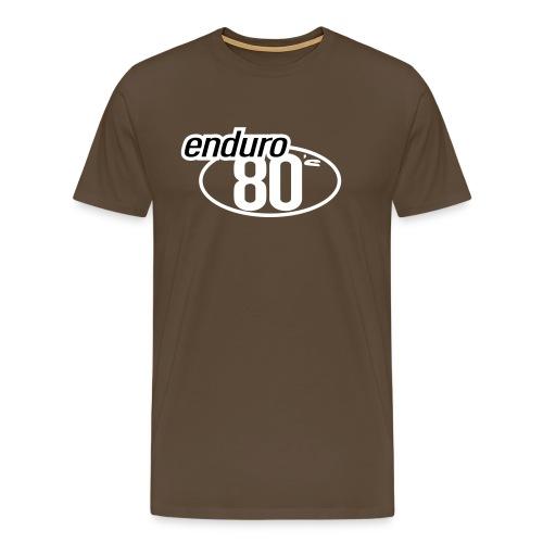 Enduro 80's Marron  - T-shirt Premium Homme