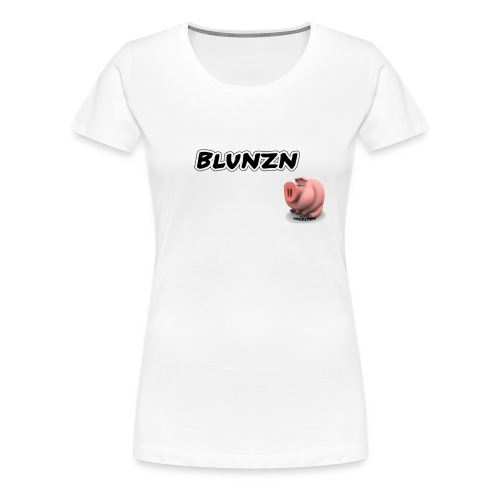 Blunzn (weiss) - Frauen Premium T-Shirt