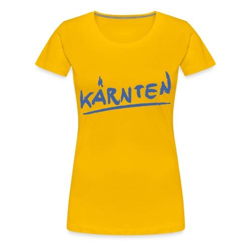 Kärnten Girlieshirt gelb - Frauen Premium T-Shirt