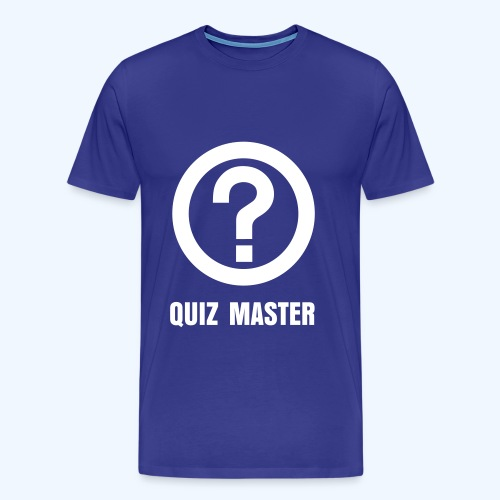 Quiz Master and Question Mark in Blue - Men's Premium T-Shirt