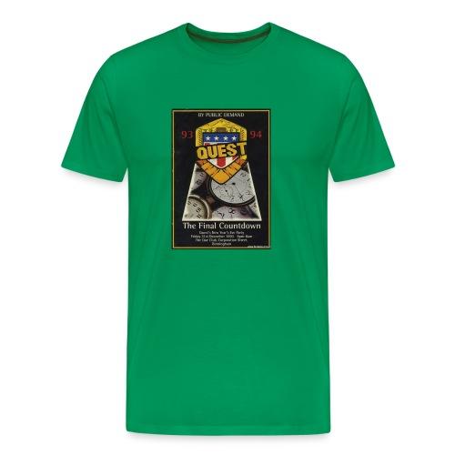 Quest The Final Countdown 31/12/93 Flyer - Men's Premium T-Shirt