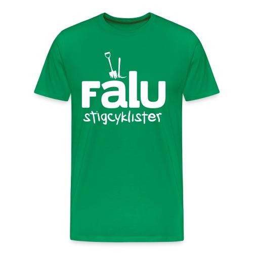 T-Shirt Herr, vitt tryck - Premium-T-shirt herr