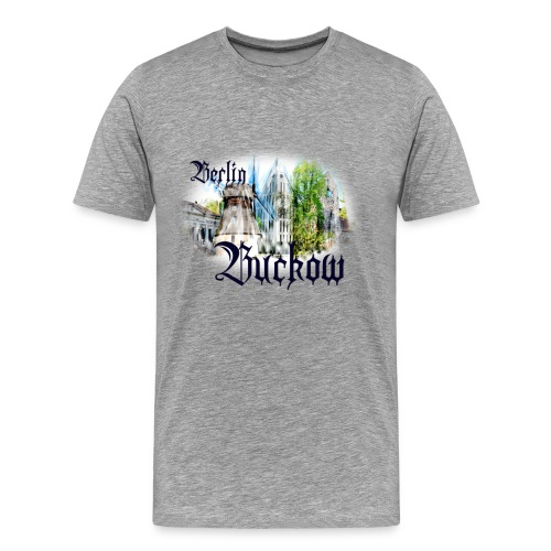 T-Shirt Berlin - Buckow mit Stadtteil-Motiven - Männer Premium T-Shirt
