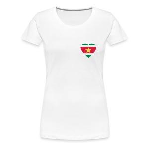vrouwenshirt met rondehals -  surinaamse hart  - Vrouwen Premium T-shirt