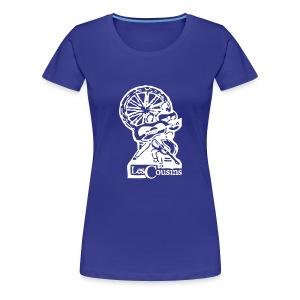 Les Cousins Ladies T-shirt (White Logo) - Women's Premium T-Shirt