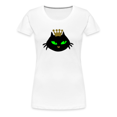 White Cat head queeny Women's Tees