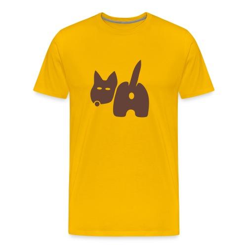 shirt hund dog vierbeiner puftie wauwau wedeln haustier pet leck mich tiershirt shirt tiermotiv fun shirt cool - Männer Premium T-Shirt