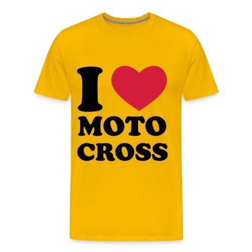 I LOVE MOTOCROSS - Männer Premium T-Shirt