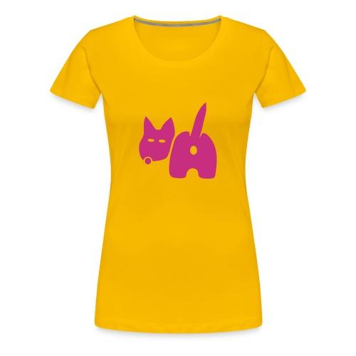 shirt hund dog vierbeiner puftie wauwau wedeln haustier pet leck mich tiershirt shirt tiermotiv fun shirt cool - Frauen Premium T-Shirt