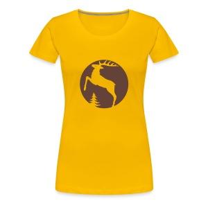 shirt hirsch geweih elch hirschgeweih wald wild tier jäger jägerin jagd förster tiershirt shirt tiermotiv weihnachten rentier - Frauen Premium T-Shirt