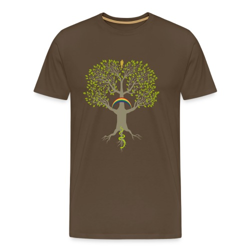 Yggdrasil-ljus Klassisk T-shirt herr - Premium-T-shirt herr