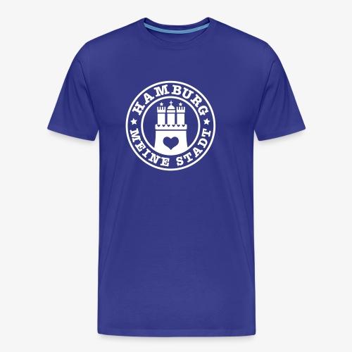 HAMBURG MEINE STADT Wappen Herz Männer T-Shirt royalblau blau + alle Farben - Männer Premium T-Shirt