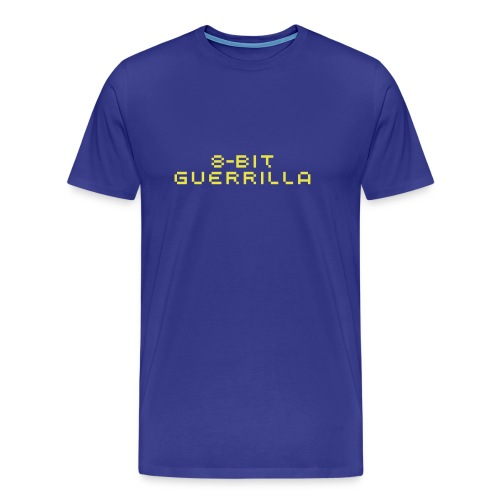 8-bit Guerrilla blue/yellow - Men's Premium T-Shirt