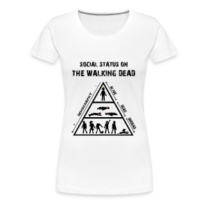 The Walking Dead - social status - Camiseta premium mujer