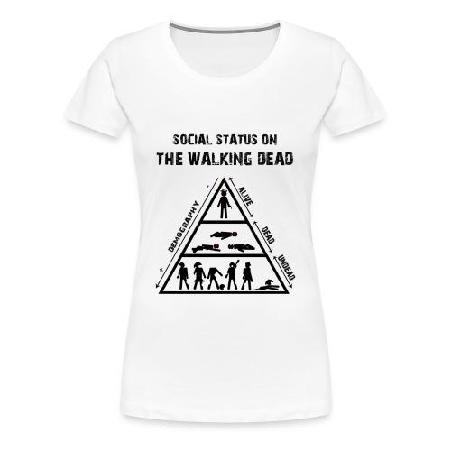The Walking Dead - social status - Camiseta premium mujer