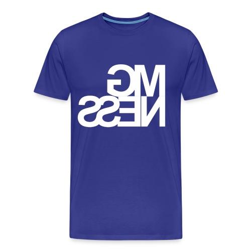 MGness Blue White classic - Männer Premium T-Shirt