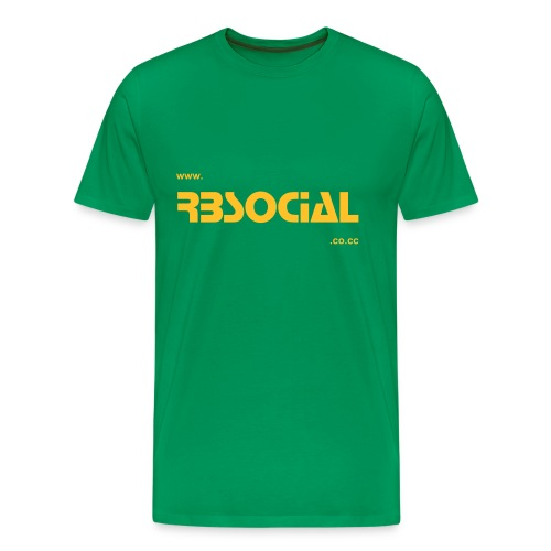Official RBSocial Green Website Comfort T - Men's Premium T-Shirt