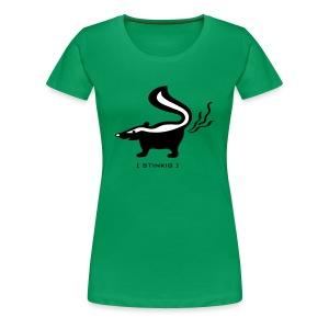 shirt stinktier stinker stinkerchen skunk tier tiershirt tiermotiv niedlich lustig baby - Frauen Premium T-Shirt