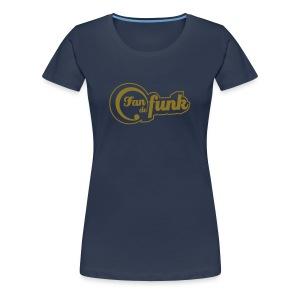 Fan de funk en Or (modèle or pour femme) - T-shirt Premium Femme