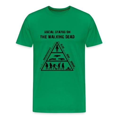 The Walking Dead - social status - Camiseta premium hombre