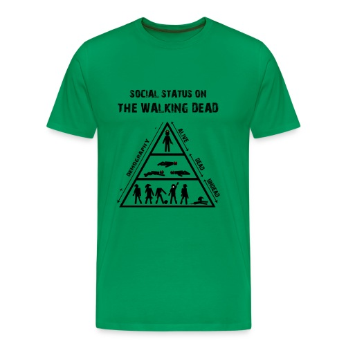 The Walking Dead - social status - Camiseta premium hombre