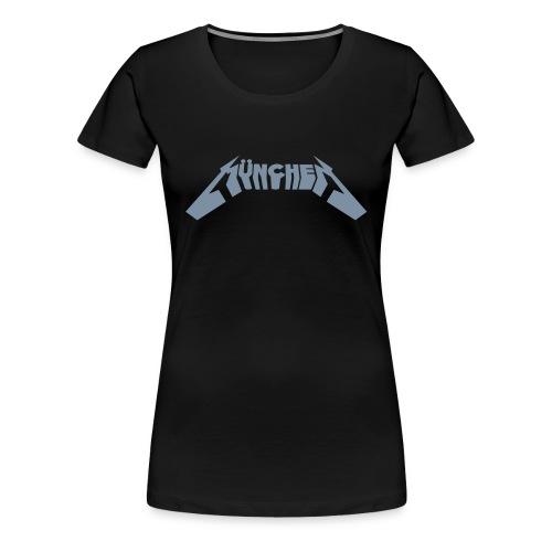 Metalmünchen Girlie silber - Frauen Premium T-Shirt