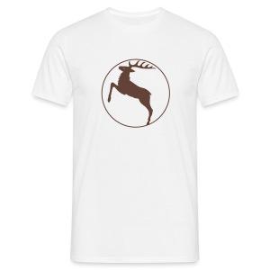 shirt hirsch geweih elch hirschgeweih wald wild tier jäger jägerin jagd förster tiershirt shirt tiermotiv weihnachten rentier - Männer T-Shirt